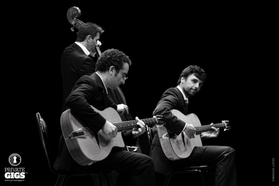 Groupe Jazz Manouche Trio pour mariage, cocktail, anniversaire