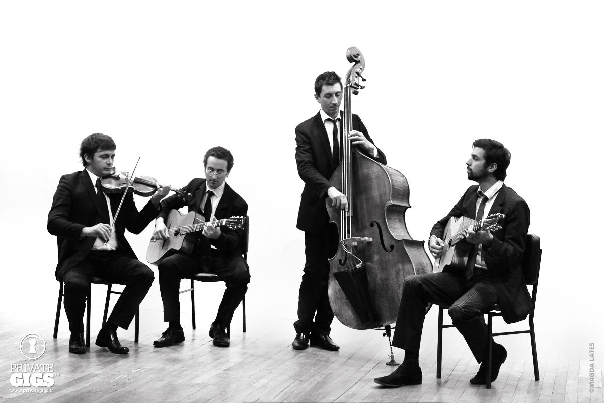 Orchestre Jazz Manouche Quartet pour cocktail mariage